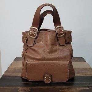 Michael Kors Brown Leather Pebbled Tote